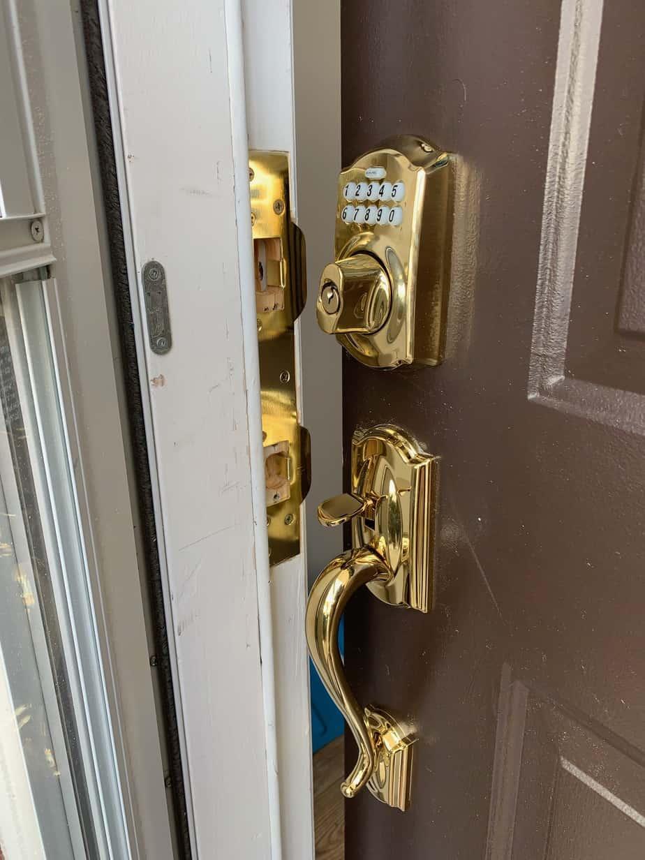 new security door locks installed